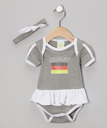 Ash 'Germany' Flag Skirted Bodysuit & Headband - Infant