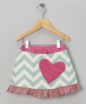 Pink Zigzag Heart Skirt - Infant, Toddler & Girls