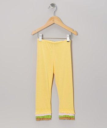 Yellow Ruffle Leggings - Infant, Toddler & Girls