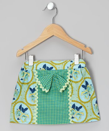 Green Rickrack Bow Skirt - Infant, Toddler & Girls