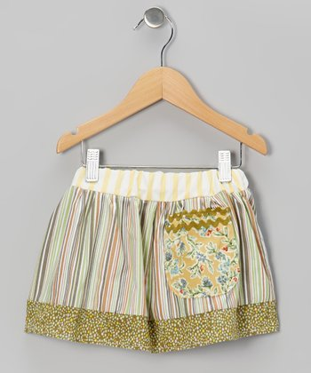 Olive Stripe Pocket Skirt - Infant, Toddler & Girls