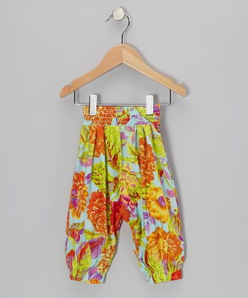 Green Vintage Hawaiian Harper Harem Pants - Toddler