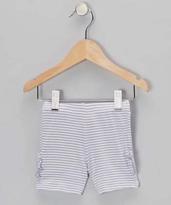 Purple Stripe Blair Biker Shorts - Toddler & Girls
