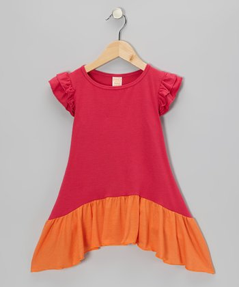 Raspberry Delilah Sidetail Dress - Toddler & Girls