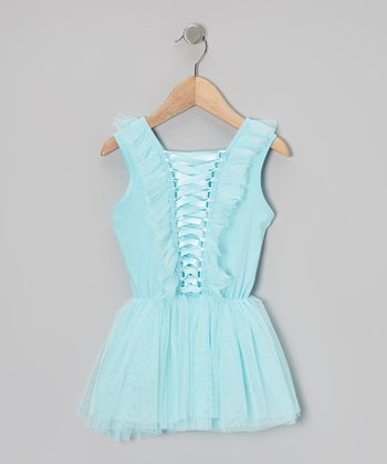 Baby Blue Corset Chiffon Dress - Toddler & Girls