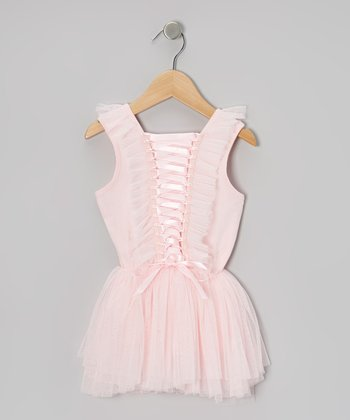 Pink Corset Chiffon Dress - Toddler & Girls
