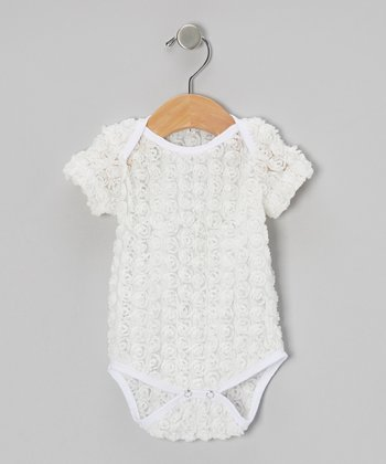White Rosette Bodysuit - Infant