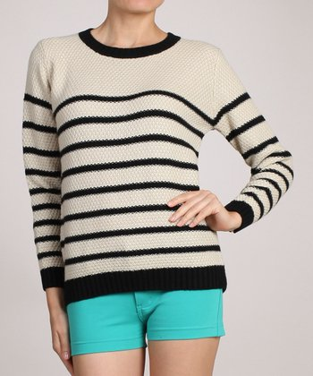 Brown & White Stripe Sweater