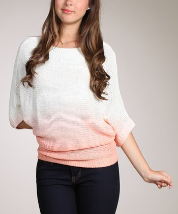 Peach Ombré Dolman Top