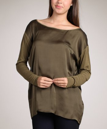 Olive Long-Sleeve Top