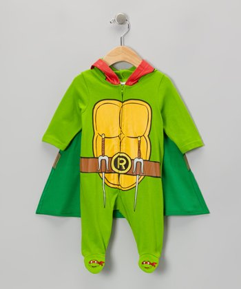 Green Teenage Mutant Ninja Turtle Caped Footie - Infant
