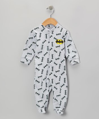 Light Gray Batman Footie - Infant