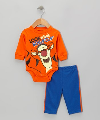 Orange Tigger Bodysuit & Pants - Infant