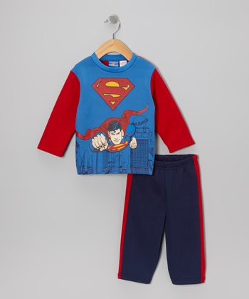 Red & Blue Superman Top & Pants - Infant