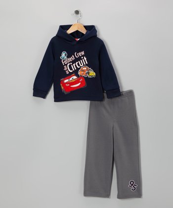 Black & Gray Cars Top & Pants - Toddler