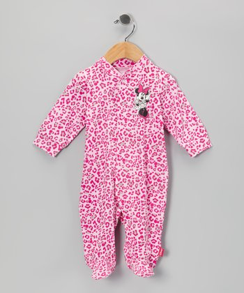 Pink Minnie Footie - Infant