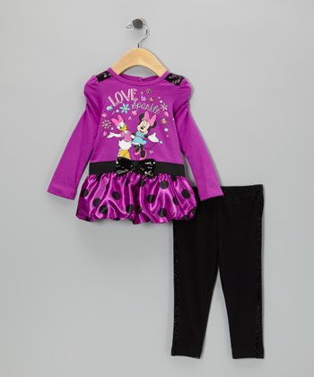 Purple Minnie & Daisy Duck Tunic & Leggings - Infant