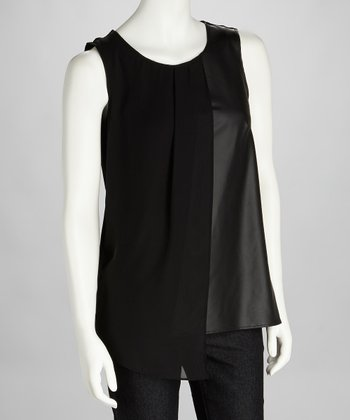 Black Layered Sleeveless Top