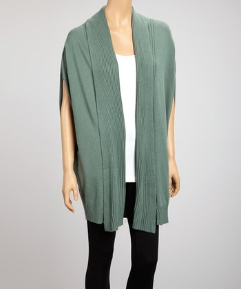 Forest Green Open Cardigan