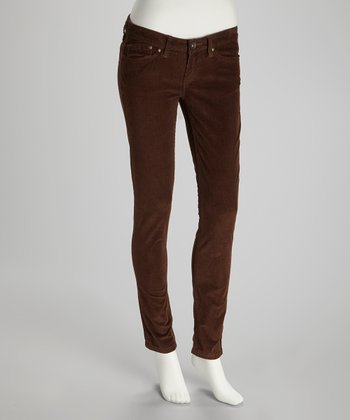 Brown Lucille Corduroy Skinny Pants