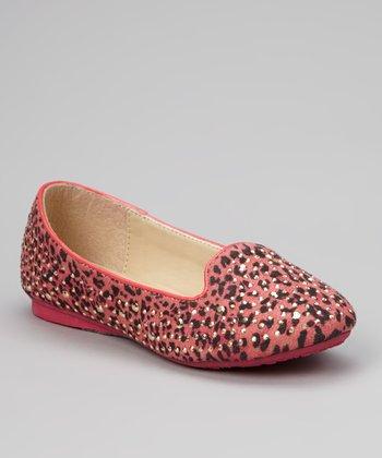 Marilyn Moda Pink Embellished Coral Loafer