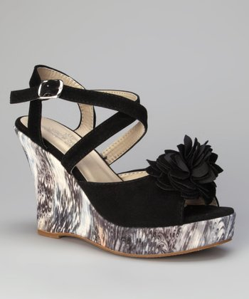 Black Rosita Wedge Sandal