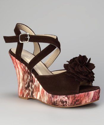 Brown Rosita Wedge Sandal