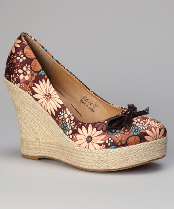 Brown Zoe Wedge