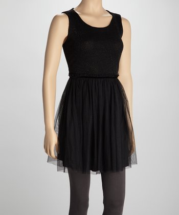 Black Glitter Sleeveless Dress