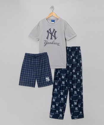Blue & Gray New York Yankees Pajama Set - Boys
