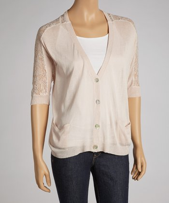 Blush Lace-Back Cardigan
