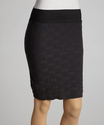 Charcoal Sweater Pencil Skirt