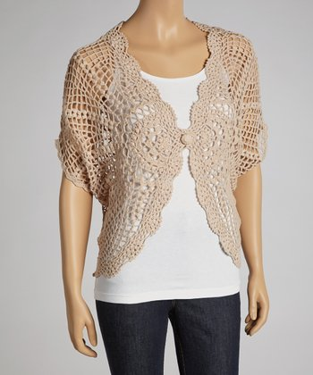 Cork Sheer Crocheted Cardigan