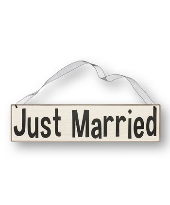 'Just Married' Simple Sign
