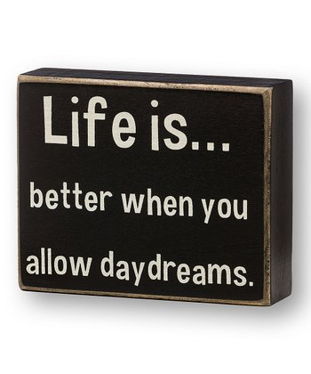 'Allow Daydreams' Box Sign
