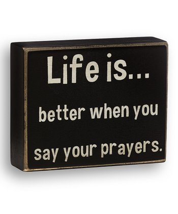 'Say Your Prayers' Box Sign