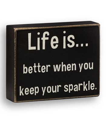 'Keep Your Sparkle' Box Sign