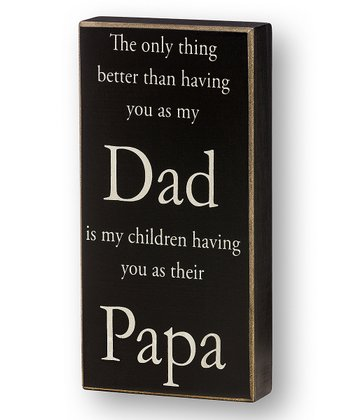 'Their Papa' Box Sign