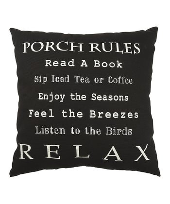 'Porch Rules' Pillow