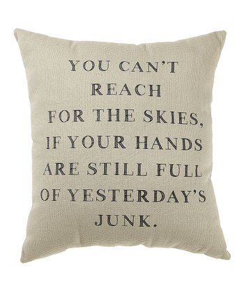 'Yesterday's Junk' Pillow