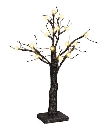 Black Glitter Lighted Tree