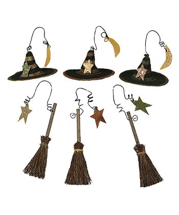 Broom & Hat Ornament Set