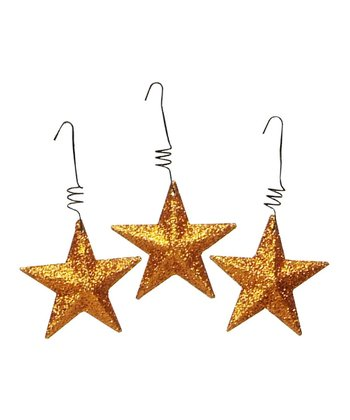Glitter Star Ornament Set