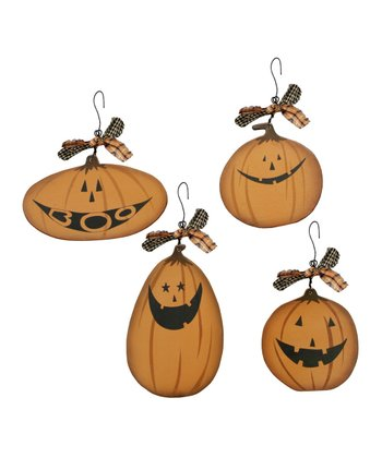 Jack-o'-Lantern Ornament Set