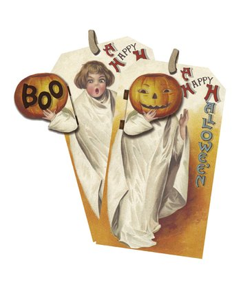 Ghost Costume Vintage Tag