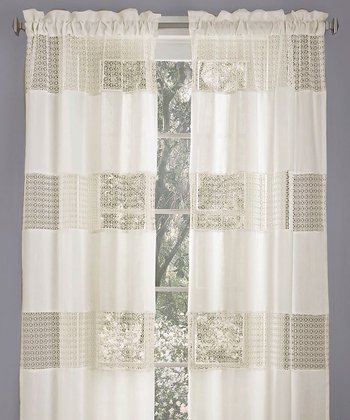 Ivory Belle Heather Curtain Panel - Set of Two