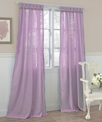 Lilac Easton Curtain Panel - Set of Two