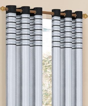 Platinum Cityscape Grommet Curtain Panel
