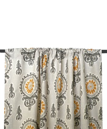 Gold & Gray Michelle Curtain Panel