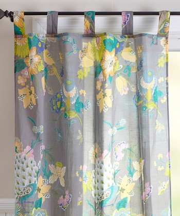 Natural Botanic Print Curtain Panel